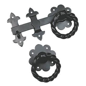 Loquet de portail Smith&Locke noir antique 240mm