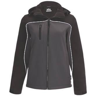 Veste Softshell imperméable pour femme Site Kardal noir / gris taille16-18