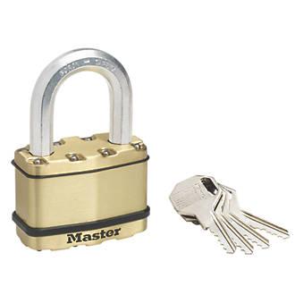 Cadenas à anse longue résistant aux intempéries en acier laminé Master Lock Excell 64mm